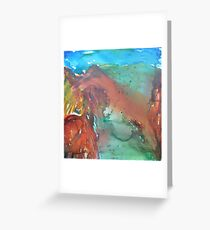 Utah Mountains Greeting Card