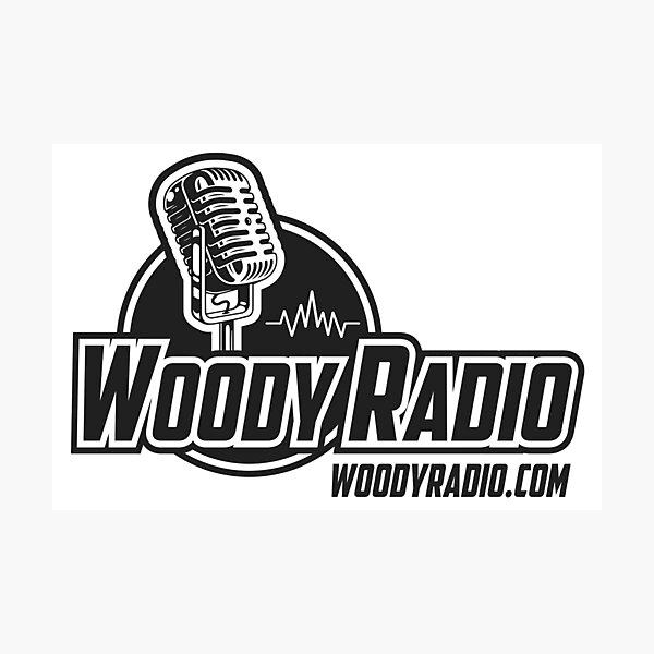 Woody Radio Logo for Light Backgrounds Photographic Print