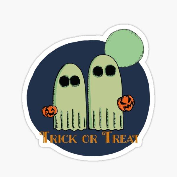 Trick or Treat - fantômes d'halloween illustration Sticker