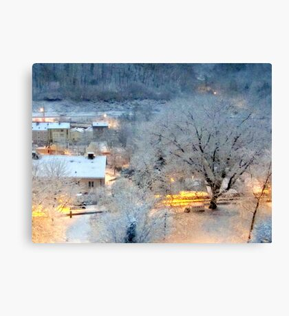Day 14 - Winter came overnight Canvas Print