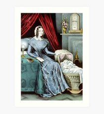 A year after marriage - Currier & Ives - 1847 Art Print