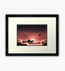 Fly Navy Framed Print