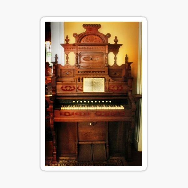 Victorian Parlor Organ Sticker