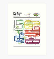 Metroid Metro - NES Maps Series Art Print