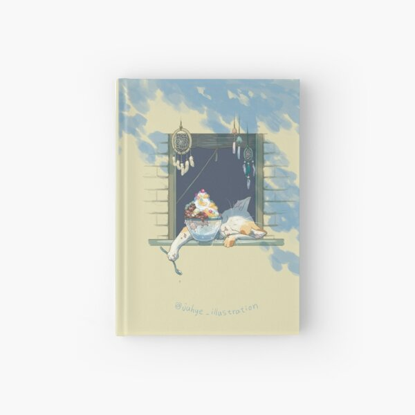 Summer napping kitty Hardcover Journal