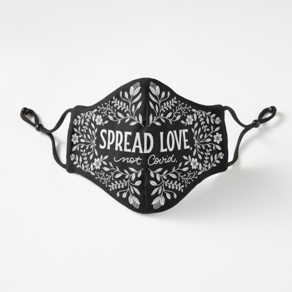 "Maske ""Spread Love, Not Covid."" #1 Passgenau (3-lagig)"