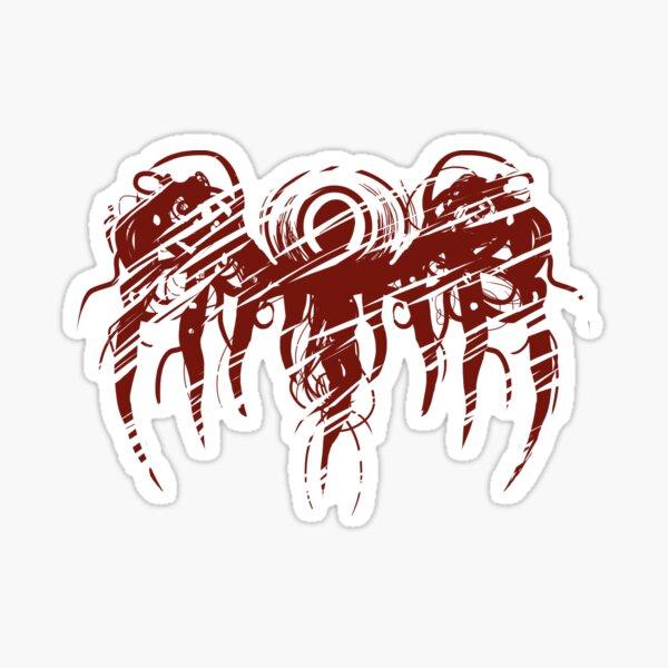 Blood red angel of death - Dark Red Heavy Metal Design Sticker