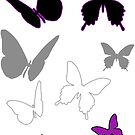 Ace Butterflies by AsexualityBlog