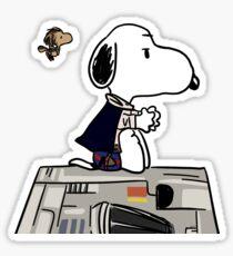 Snoopy Han Solo Sticker