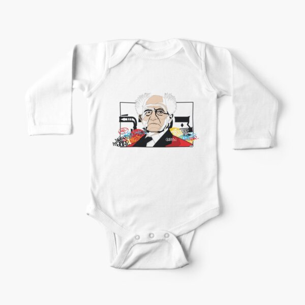 David Ben-Gurion portrait - Pop Art Israeli leader Long Sleeve Baby One-Piece
