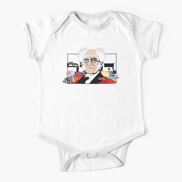 David Ben-Gurion portrait - Pop Art Israeli leader Short Sleeve Baby One-Piece