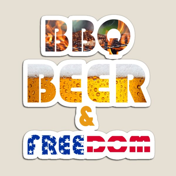 Bbq Beer Freedom Magnet