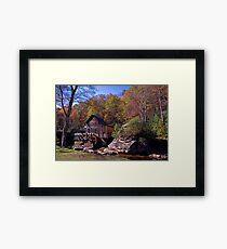 Glade Creek Grist Mill Framed Print