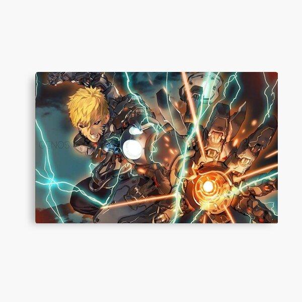 Genos Full Cyborg Weaponry Canvas Print