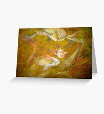 Happy Accident Luminous Ghost Fish Painting - Section 3 Greeting Card