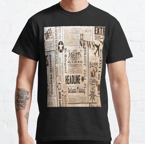 old newspaper pattern Classic T-Shirt