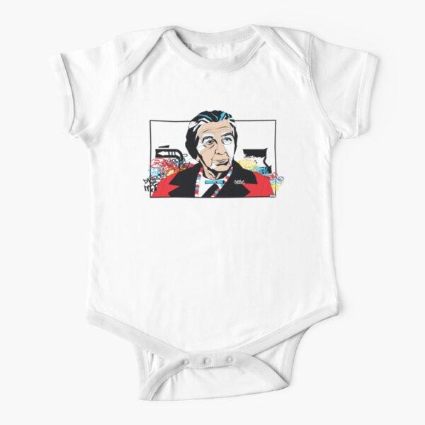 Golda Meir portrait - Pop Art Israeli leader Short Sleeve Baby One-Piece