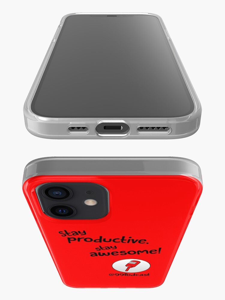 Alternate view of Stay Productive, Stay Awesome - 99% Perspiration iPhone Case & Cover