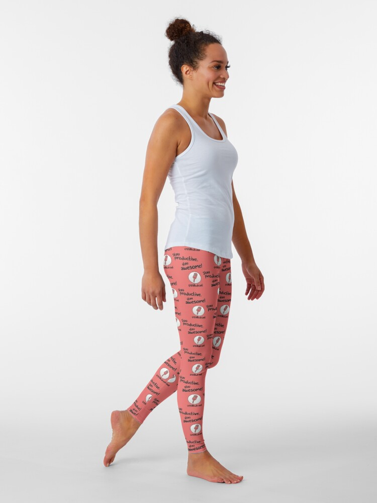 Alternate view of Stay Productive, Stay Awesome - 99% Perspiration Leggings