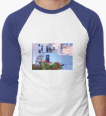 Santorini Island Greece Men's Baseball ¾ T-Shirt