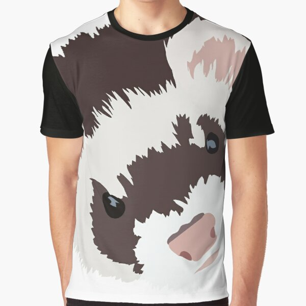 Ferret head Graphic T-Shirt