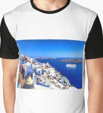 Santorini Island Greece Graphic T-Shirt