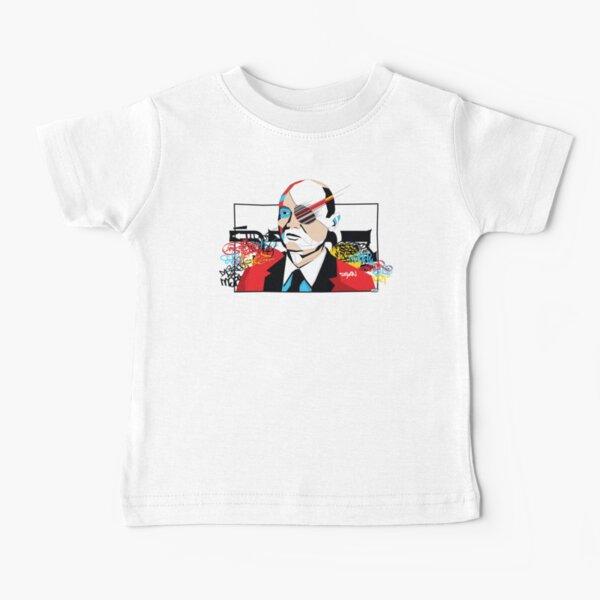 Moshe Dayan portrait - Pop Art Israeli leader Baby T-Shirt