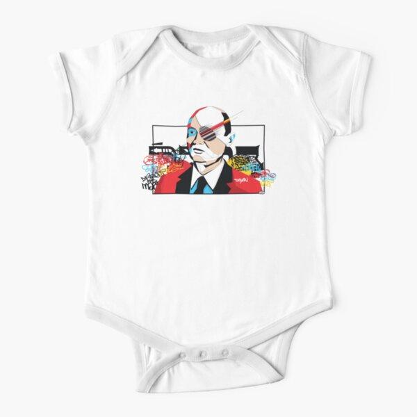 Moshe Dayan portrait - Pop Art Israeli leader Short Sleeve Baby One-Piece