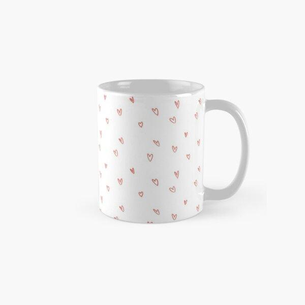 Cute Heart Doodle Pattern Classic Mug