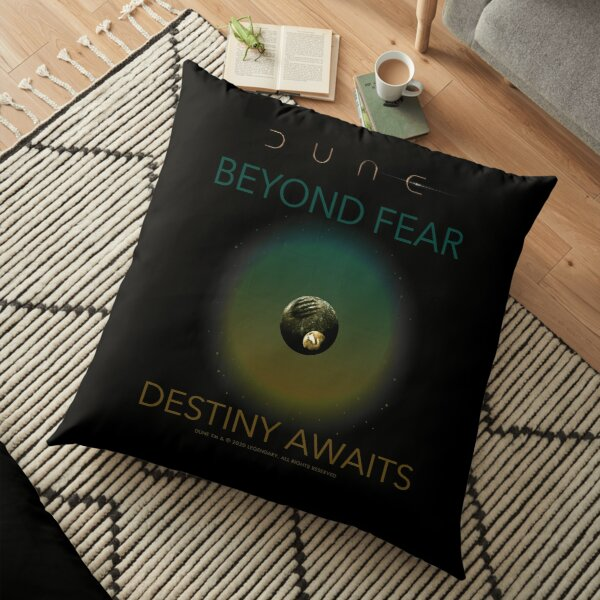 Dune - Beyond Fear, Destiny Awaits Floor Pillow
