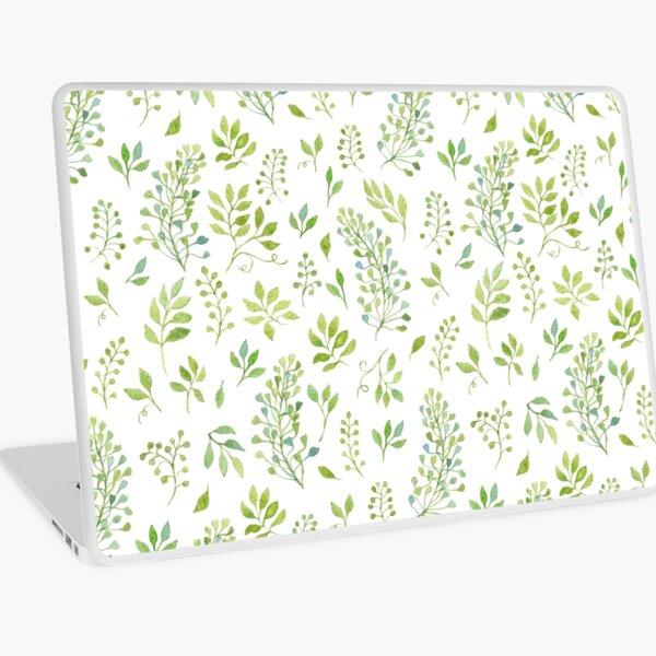 Watercolor leaves pattern Laptop Skin