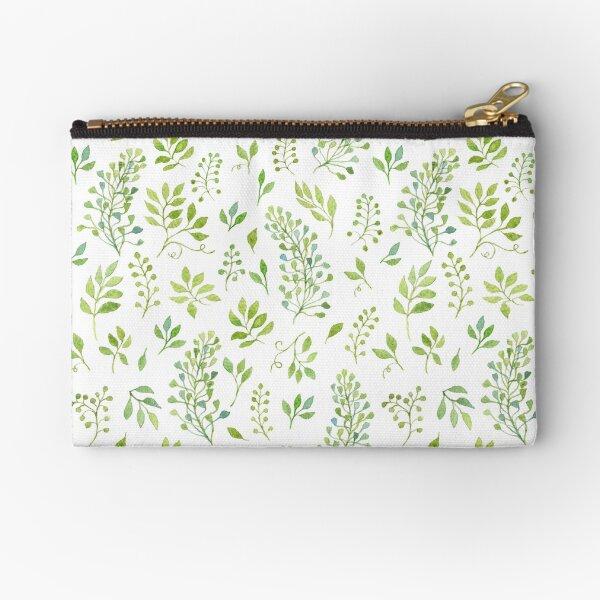 Watercolor leaves pattern Zipper Pouch