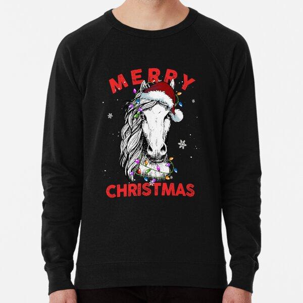 Frohe Weihnachten 2020 Pferd Christmask Geschenke Leichter Pullover
