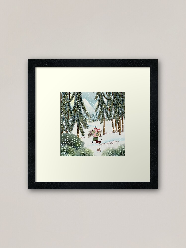 Alternate view of The Extreme Wreather on a Foraging Expedition  Framed Art Print