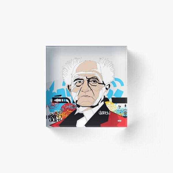 David Ben-Gurion - Pop Art Israeli leader gift Acrylic Block