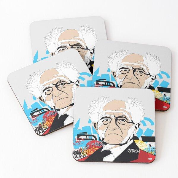 David Ben-Gurion - Pop Art Israeli leader Coasters (Set of 4)
