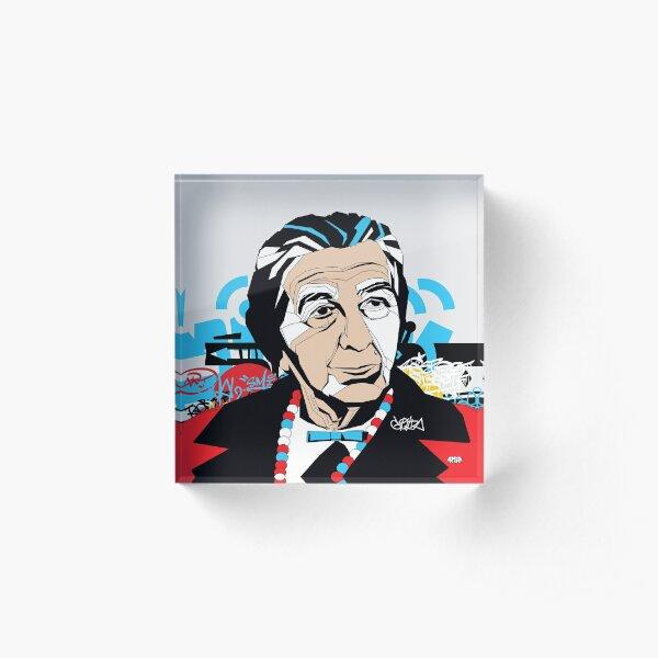 Golda Meir - Pop Art Israeli leader gift Acrylic Block