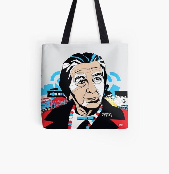 Golda Meir portrait - Pop Art Israeli leader All Over Print Tote Bag