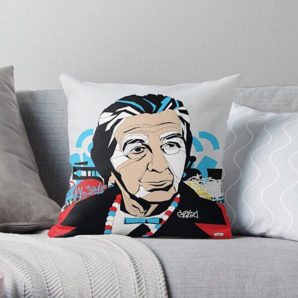 Golda Meir - Pop Art Israeli leader gift Throw Pillow