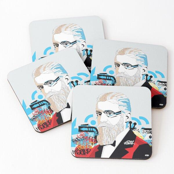 Theodor Herzl - Pop Art Israeli leader Coasters (Set of 4)