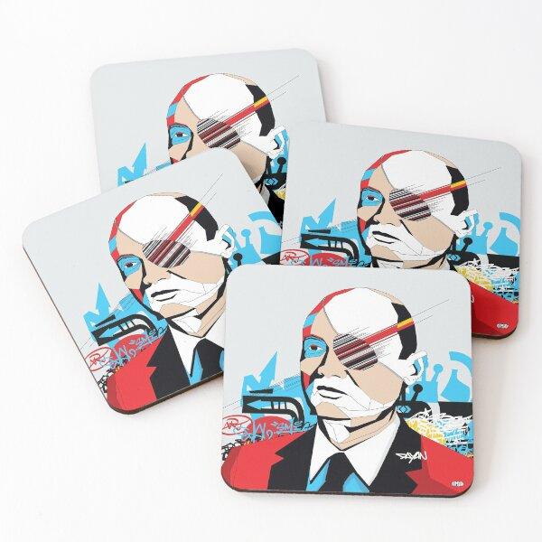 Moshe Dayan - Pop Art Israeli leader Coasters (Set of 4)