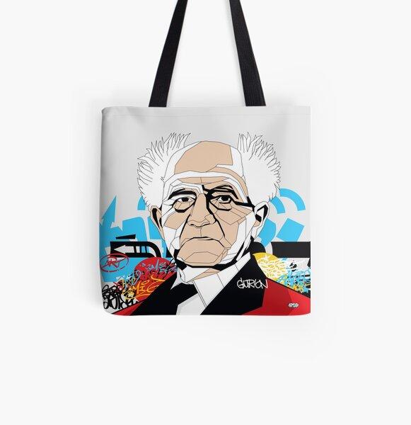 David Ben-Gurion portrait - Pop Art Israeli leader All Over Print Tote Bag