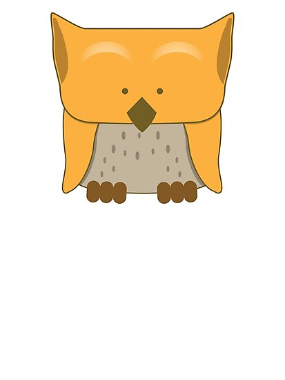 So cute Owl in orange by jazzydevil