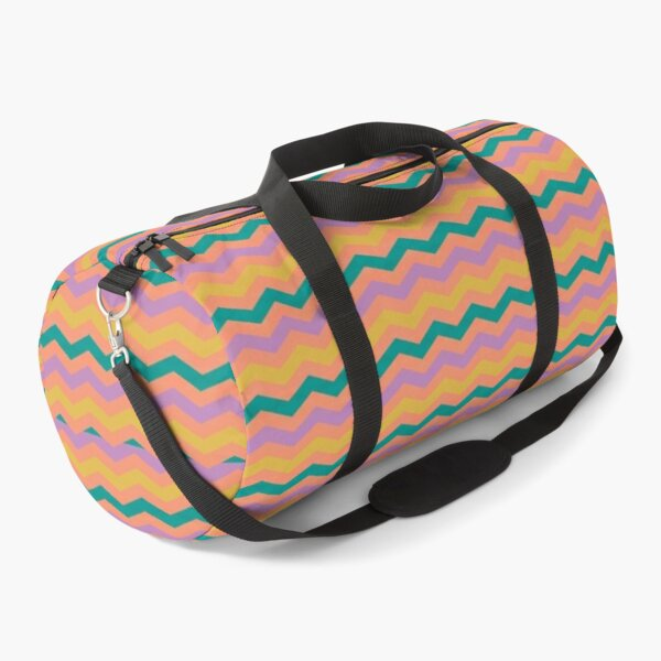 Chevron Pattern Print Art Design Duffle Bag