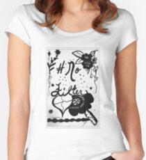 Rachel Doodle Art - No Filter Women's Fitted Scoop T-Shirt