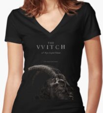 The Witch stylized as The VVitch horror movie Women's Fitted V-Neck T-Shirt