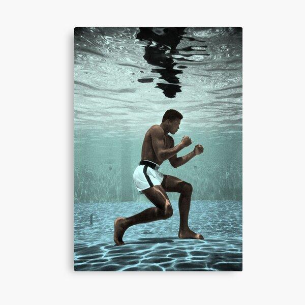 Muhammad Ali boxe sous l'eau Impression sur toile