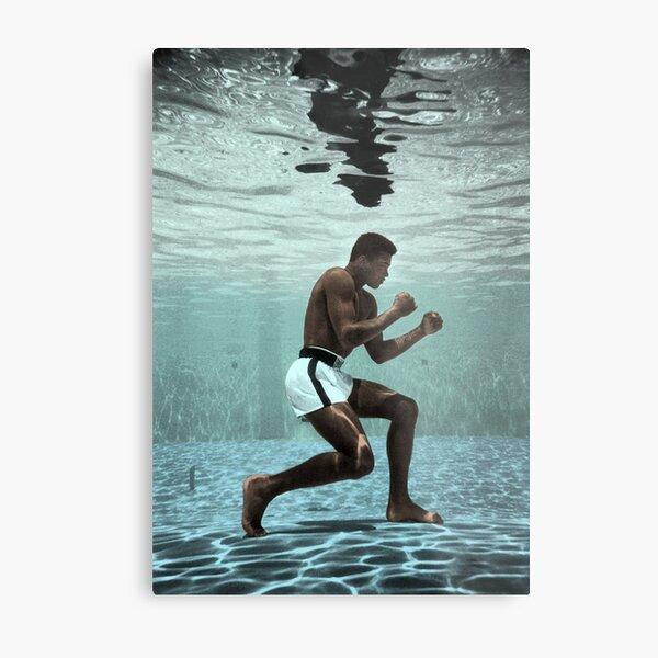 Muhammad Ali Boxing Under Water Metal Print