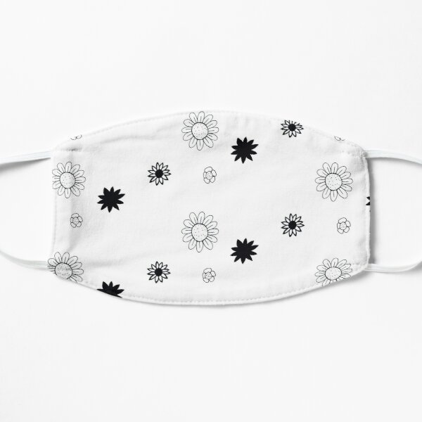Flower doodles Flat Mask