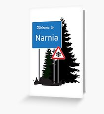 Narnia traffic Greeting Card
